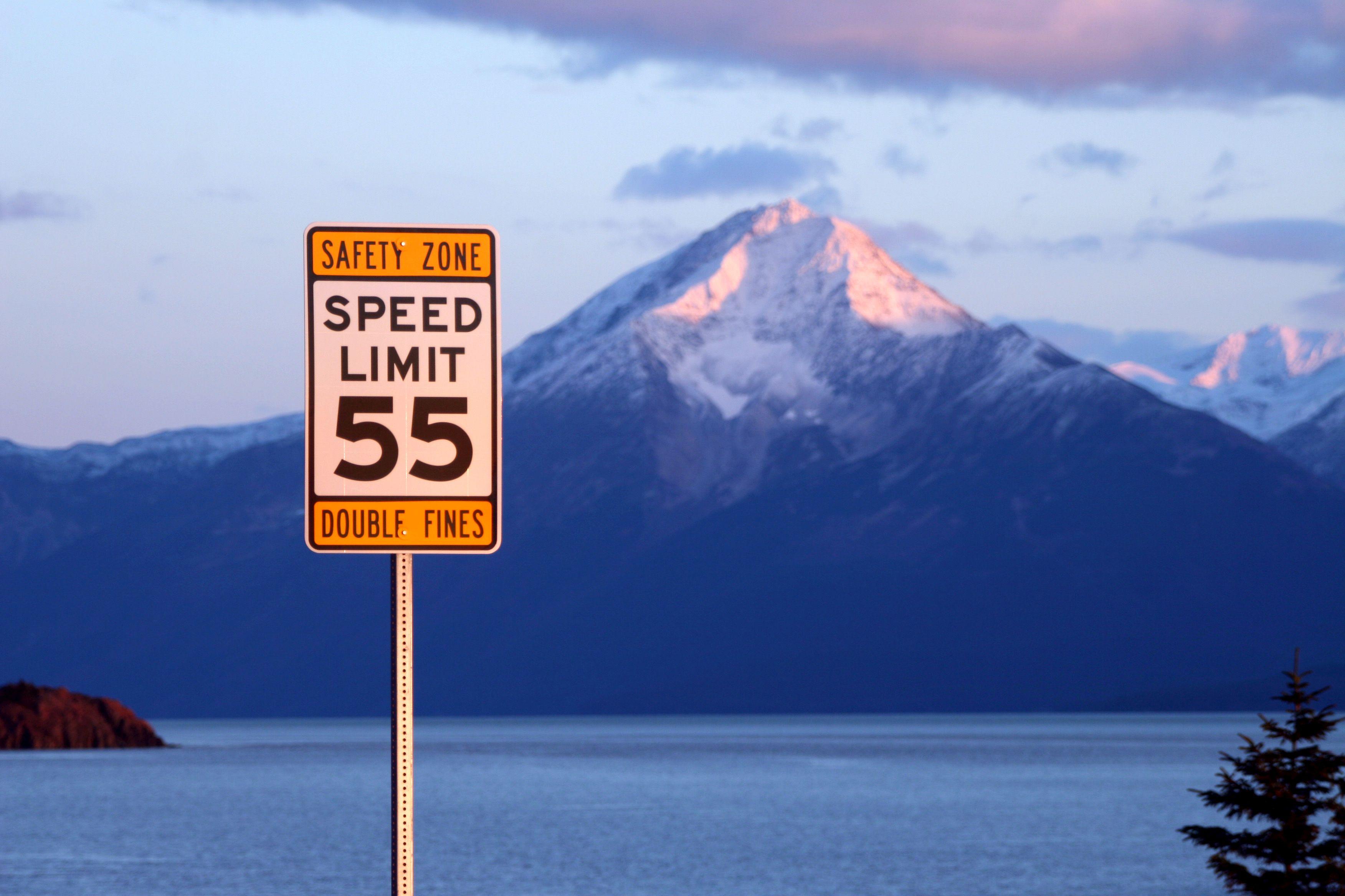 Alaska Safety Corridor sign