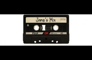 """Cassette tape with """"Jane's Mix"""" written on the title line"""
