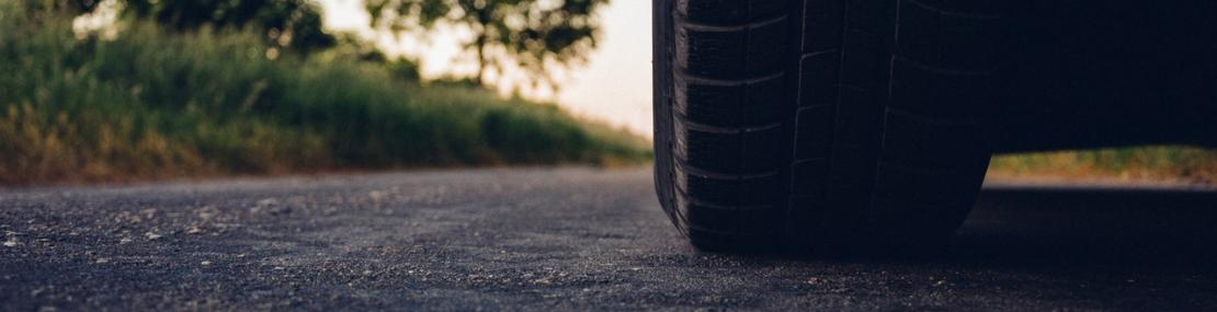 Tire on the road.