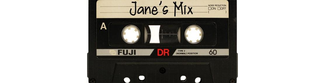 """Caset tape with """"Jane's mix"""" written on the front"""