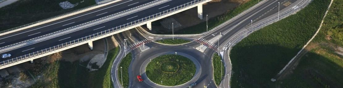Roundabout and highway