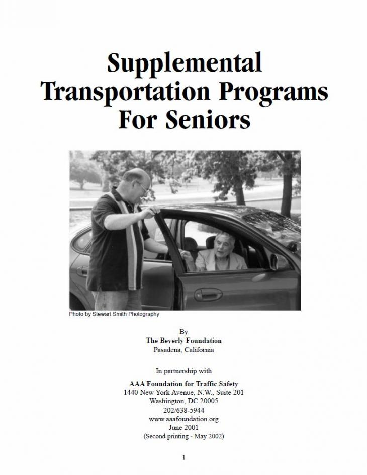 Supplemental Transportation AAA Foundation report cover